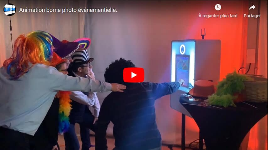 borne photobooth en video.